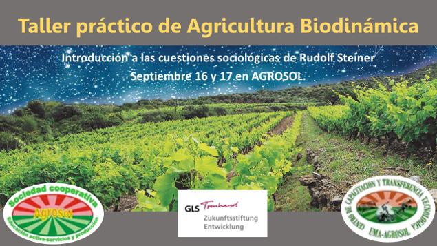 Imagen publicitaria del Taller Agricultura biodinámica 2